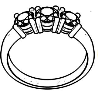 Custom Ring Design trilogy drawing sketch