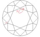 Diamond clarity I1 under 10x magnification